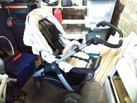 Full Travel System - Teutonia Pram and Car Seat and Accessories