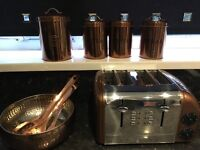 Variety of gold kitchen tools