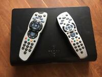 Sky HD box with 2 controls