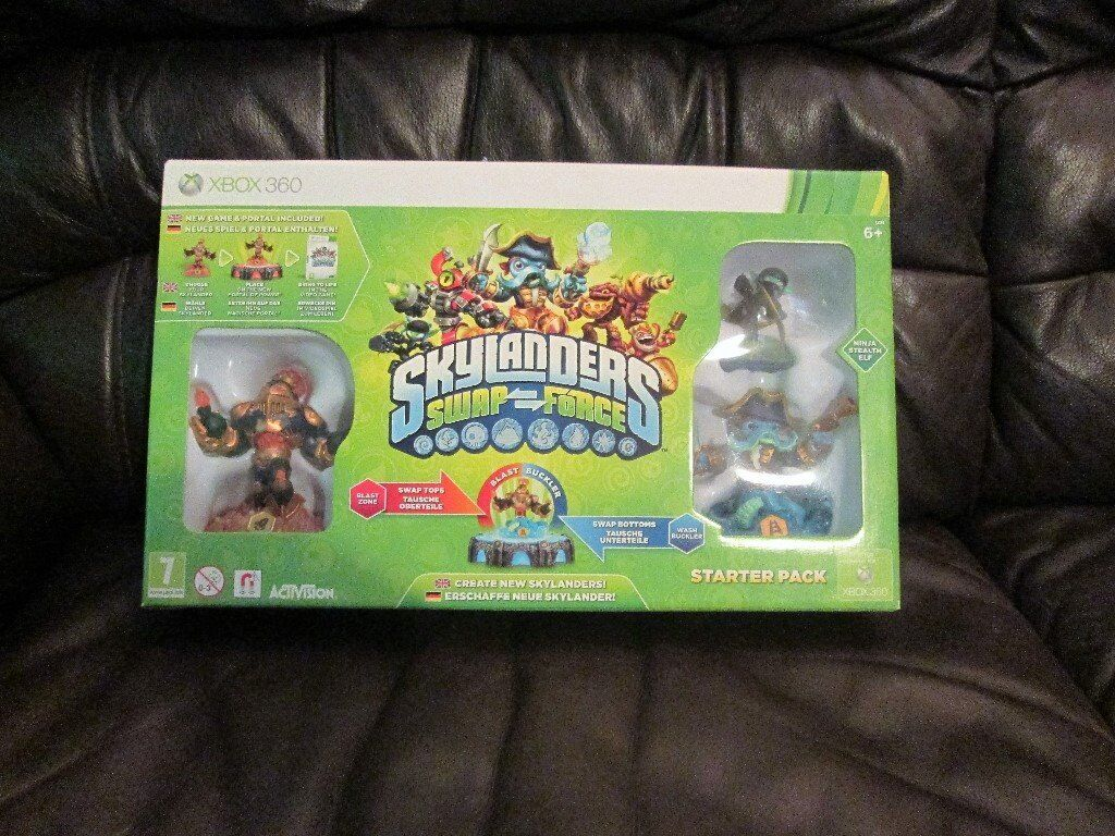 Skylanders Swap Force Starter Pack For Xbox 360 includes carry case!!!