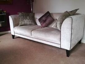Vista 3 Seater Sofa, stone coloured