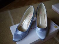 Mother of Bride/Groom . Matching pale Blue Shoes size 6.5 wide fit and Clutch Bag. Rainbow Club