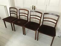 Vintage G plan 1970s dining chairs x4 mid century retro