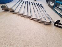 Used, Full set of Golf Clubs plus Trolley for sale  Surrey