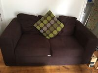 2 two seater sofas brown second hand