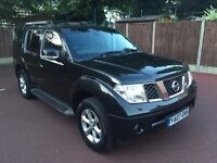 07 PLATE NISSAN PATHFINDER AVENTURA 2.5 DCI AUTO BLACK TOP SPEC SAT NAV FULL LEATHER 7 SEATER