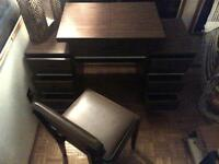 Compact Study Desk and matching pad chair