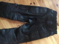 Ladies Richa Black leather biker trousers