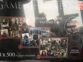 Brand new game of thrones puzzle set