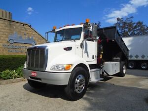2010 Peterbilt PB 335 Knuckle crane,Steel dump body,Only 114,453