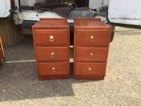 Pair of pine bedsides in good condition