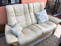 Stressless two seater in cream