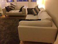 Modern 3 Seater and 2 Seater Designer Sofas