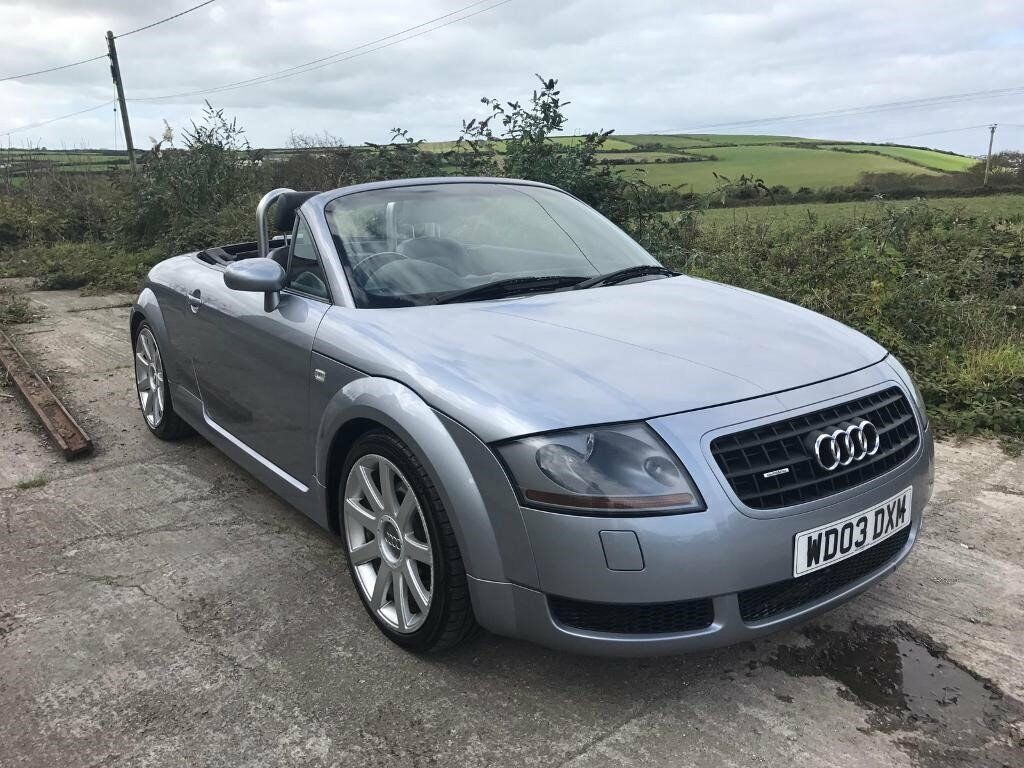 audi tt quattro 225 convertible silver 1 8t 2003 low miles in newquay cornwall gumtree. Black Bedroom Furniture Sets. Home Design Ideas
