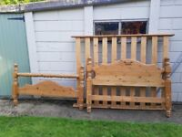 King Size Pine Bed Frame for sale
