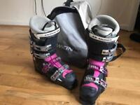 SALOMON ski boots. Used. Ladies size 7.