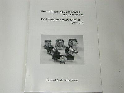 как выглядит Винтажная видеокамера или фотоаппарат How to Clean Old Leica Lenses and Accessories, Manual for summicron,summaron фото