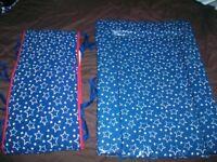 Blue Stars Boys Changing Mat & Cot Bumper
