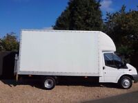 MAN WITH VAN HOUSE REMOVALS LUTON VAN WITH TAIL LIFT