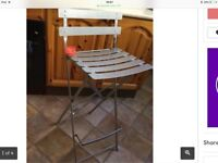 New bistro metal chair/stool £15