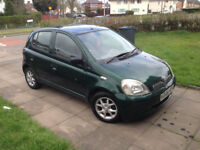 toyota yaris 1.0 cdx manual petrol 5 door long mot recently serviced hpi clear nice little car £495