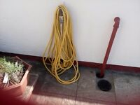 Used once 30 mtr garden hose with hozlock fittings