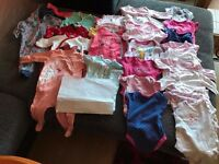 Bandle of baby girl clothes. Size 3-6 months
