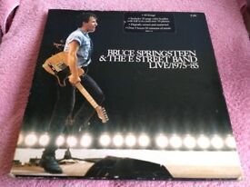 BRUCE SPRINGSTEEN - LIVE 1975/1985 - 5 X VINYL L.P BOX SET