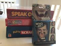 Board game collection for various ages