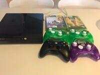 Xbox 360, controllers and games for sale - Only £75!