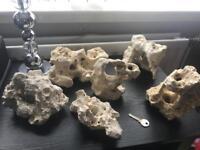 Natural coral rock for aquarium/ fish tank