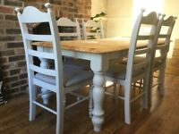Stunning Oak 6ft x 3ft Table and Chair Set