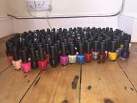 211 brand new and unused OPI nail lacquer/ nail polish. Amazing selection of colours.
