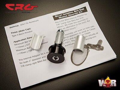 """CRG 7/8"""" Billet Internal Bar End Mirror Adapter Mount For Arrow Hindsight LS"""