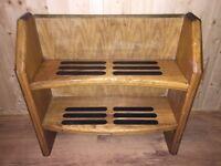 Wooden inner boat steps