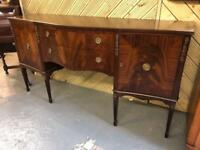 Fabulous vintage high quality serpentine front sideboard in pristine condition