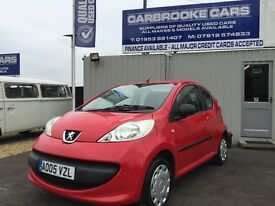 2005 05 PEUGEOT 107 -URBAN - £20 ROAD TAX - 12 MONTHS MOT - SERVICED - WARRANTY - GENUINE NICE CAR .