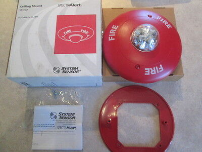 System Sensor Sc24177 Fire Alarm 24v Ceiling Mount Strobe 177cd 60 Day Returns