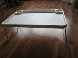 Ikea lap tray/table with folding legs - ideal for dinners, hobbies or laptop use.