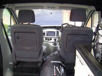 Campervan, converted panel van, 2 seater, sink, hob unit, fridge, bed, DVD tele, side awning