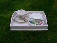 Small shabby chic serving tray