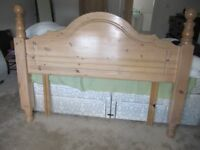 Double bed headboard in washed pine
