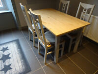 Kitchen Table and 4 chairs Farrow Ball Glasgow West End