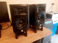JBL LSR305 Monitor Speakers with Cables & Stands