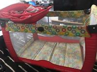 Graco Contour Electra Travel Cot Bassinet Child Bed Infant