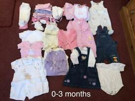 Girls Baby Bundle 0/3 Months.