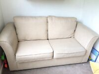 Beige sofa bed - excellent condition
