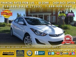 2015 Hyundai Elantra GL-$53/Wk-Clean Carproof-Bluetooth-AUX/CD/M London Ontario image 1