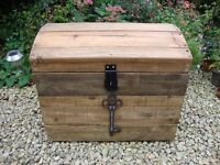Rustic Solid Timber Storage Trunk/Treasure Chest.