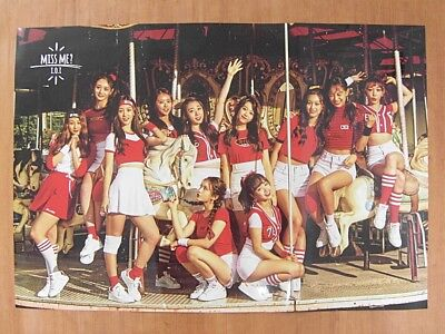 I.O.I - Miss Me? 2nd Mini Album (Ver. B) GLOSSY [OFFICIAL] POSTER *NEW* IOI